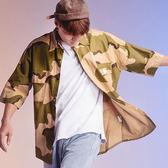 落肩寬鬆迷彩襯衫【2028-6038】(ROVOLETA)