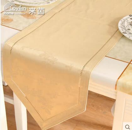 現代時尚簡約歐式防水免洗雕花餐桌布桌旗酒店餐墊家居多用巾