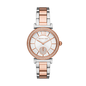Michael Kors 閃耀氣質時尚腕錶-玫瑰金X銀