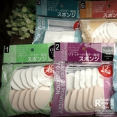 干濕兩用海綿粉撲 化妝用具12個裝多種可選