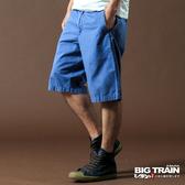 Big Train 斜紋短褲-男-水藍-B5007151