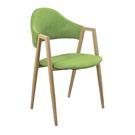 【森可家居】韋德本色綠布餐椅 7JF484-12 北歐風