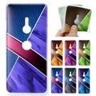 SONY XZ3 撞色極光軟殼 手機殼 全包邊 軟殼 幾何 彩繪 保護殼