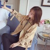 雙12購物狂歡- 短款風衣小外套女春秋季2018新款韓版學生bf原宿寬鬆秋天夾克上衣交換禮物