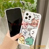 透明小怪獸可愛卡通蘋果手機殼硅膠個性創意防摔軟殼品牌【小獅子】