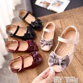小皮鞋 韓版春秋季公主兒童平底鞋蝴蝶結可愛單鞋小女孩女童軟底皮鞋 童趣屋