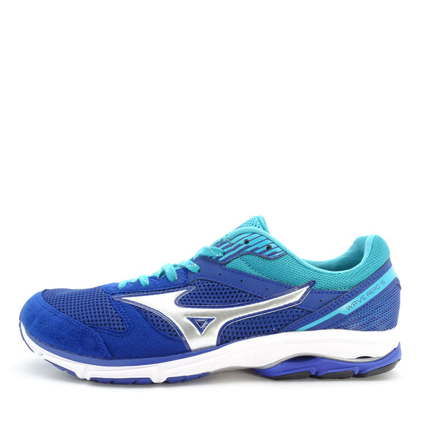 Mizuno Wave Aero 16 [J1GA173505] 男鞋 運動 走路 跑步 氣墊 避震 舒適 美津濃 藍銀