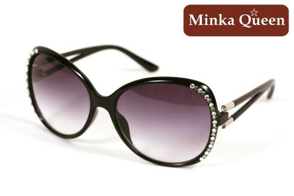Minka Queen 極致黑框(抗UV400)施華洛世奇‧Swarovski‧水鑽太陽眼鏡(綠色)