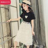 女童夏裝套裝韓版時尚大兒童夏季洋氣時髦兩件套童裝潮衣 道禾生活館