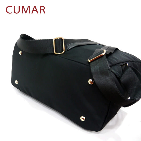 【CUMAR女包】輕量防潑水尼龍大方後背包-黑