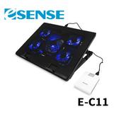 Esense E-C11 冷光五風扇筆電散熱墊