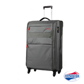 AT美國旅行者 31吋 商務旅遊SKI軟殼布面行李箱(灰-紅)