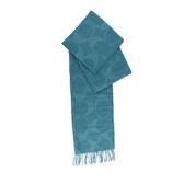 【COACH】CC LOGO羊毛圍巾(水藍)F77673 CEH