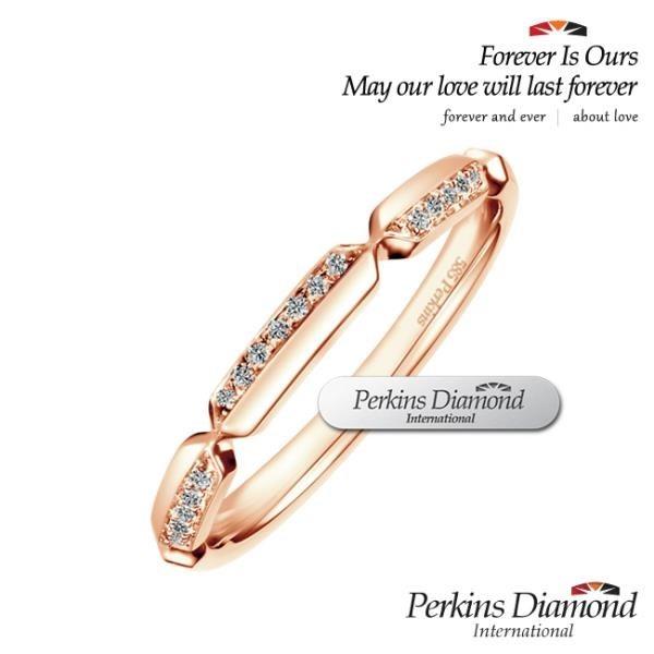 【南紡購物中心】PERKINS 伯金仕 Dance玫瑰金系列 鑽石戒指