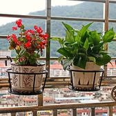 買2送1  鐵藝陽台掛式欄桿裝飾花盆架懸掛多層室內綠蘿花架子特價【快速出貨八折搶購】