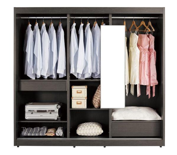 衣櫃 衣櫥 MK-091-1 艾爾莎7尺拉門衣櫥 【大眾家居舘】