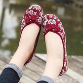 中老年布鞋女老北京布鞋女平跟休閒女式平底新款中老年人媽媽鞋子 薔薇時尚