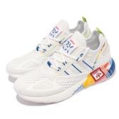adidas 休閒鞋 ZX 2K BOOST 白 藍 黃紅 愛迪達 太空 女鞋 三葉草 【ACS】 GX2718