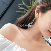 耳環  蝴蝶結耳釘女韓國簡約個性水晶吊墜創意耳墜氣質耳環女  瑪奇哈朵