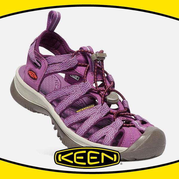 【KEEN 美國 女 護趾涼鞋《紫/灰》】1018229/耐水洗/水陸兩用/運動涼鞋/多功能鞋