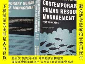 二手書博民逛書店Contemporary罕見Human Resource Management: Text And Cases