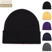 毛帽針織帽日本DZP復古經典卷邊男女針織帽 正韓秋冬保暖護耳套頭簡約毛線帽