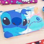 iaeShop 迪士尼DISNEY 史迪奇醜ㄚ頭 Lilo & Stitch 雙層收納包 化妝包 旅行包 萬用包 外出包 手提包 筆袋