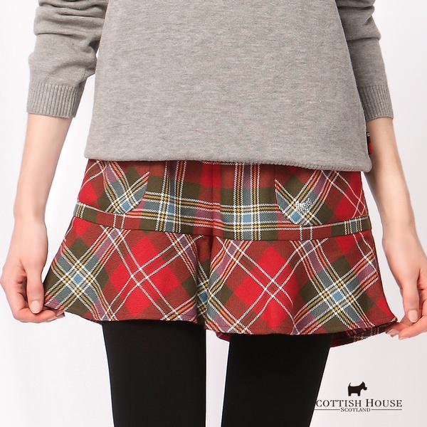 經典格紋配色短褲 Scottish House【AD2209】