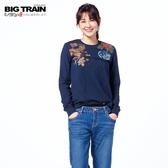 Big Train 財貓飛燕羅紋束口長袖-寶藍-B2513257