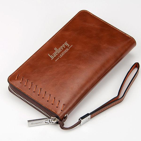 【現貨】長夾 大容量多卡位拉鍊長皮夾 手機錢包 手拿包 -SW007