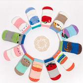 可愛腳跟塗鴉寶寶加厚毛巾止滑襪 童襪 兒童短襪 毛巾襪 寶寶襪 防滑襪