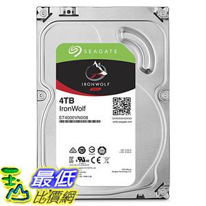 [107美國直購] Seagate【IronWolf】64K cache  4TB 3.5吋 NAS專用硬碟(ST4000VN008)