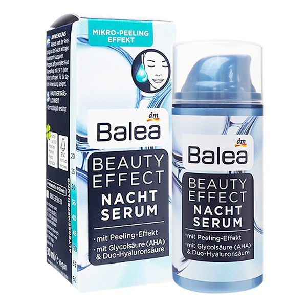 德國BALEA 玻尿酸高效抗皺抗老保濕夜間精華30ML【德潮購】