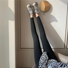 外穿打底褲/紧身裤 黑色打底褲女春秋季外穿鯊魚褲魔術褲芭比彈力褲子運動緊身瑜伽褲