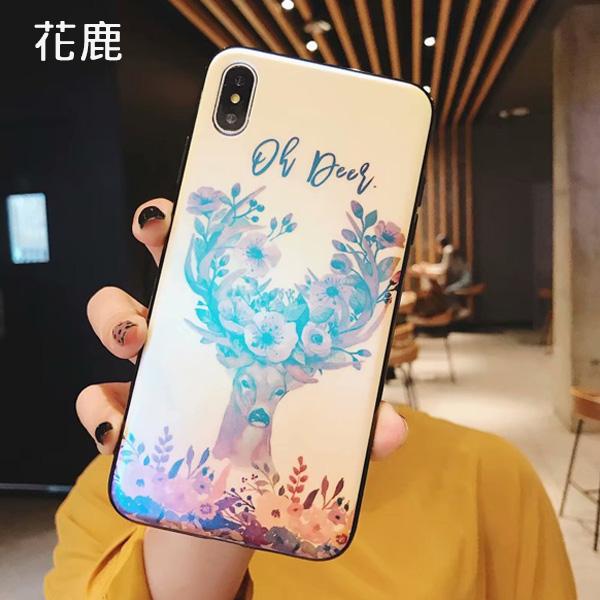 蘋果 XR XS i8 Plus XS MAX iX i7 Plus PZ藍光彩繪殼 手機殼 全包邊 彩繪殼 保護殼