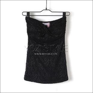 U-492-013夏新款女款韓版時尚碎花緊身收腰打底抹胸裹胸