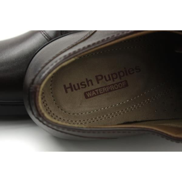 Hush Puppies 休閒鞋 皮鞋 牛皮 防潑水 深咖啡色 男鞋 寬楦 6174M147702 no088