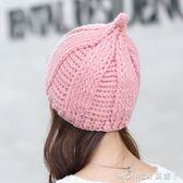 帽子女冬天潮學生青年韓版韓國簡約潮流針織帽甜美可愛毛線帽 莫妮卡小屋