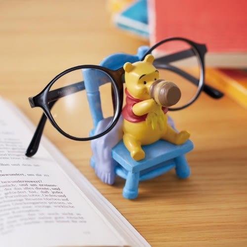 迪士尼小熊維尼眼鏡架擺飾吃蜂蜜091715通販屋