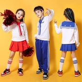 兒童拉拉隊啦啦操演出服裝小學生男女運動會街舞爵士舞表演服套裝 MKS免運