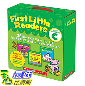 [106美國直購] 2017美國暢銷兒童書 First Little Readers Parent Pack: Guided Reading Level C: 25 Irresistible Books