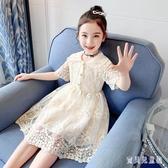 2020新款兒童夏款洋氣網紅公主洋裝 女童夏裝白色蕾絲連身裙 TR84『寶貝兒童裝』