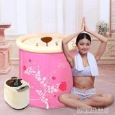 蒸汽桑拿浴箱家用汗蒸箱家庭桑拿房熏蒸機泡澡汗蒸房單人滿月 YDL