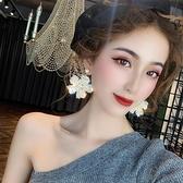 奢華高級感夸張水晶花朵耳環潮歐美韓國氣質大耳釘女【貼身日記】