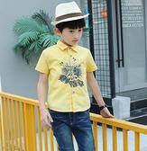 童裝男童新款夏裝寶寶襯衣短袖襯衫 LQ5001『小美日記』