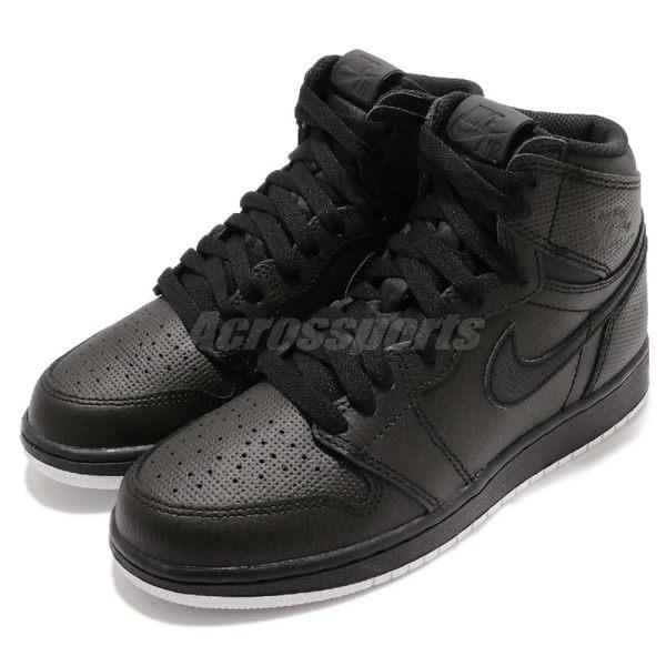 【五折特賣】Nike Air Jordan 1 Retro High OG BG 黑 白 女鞋 黑白 大童鞋 喬丹1代 【PUMP306】 575441-002