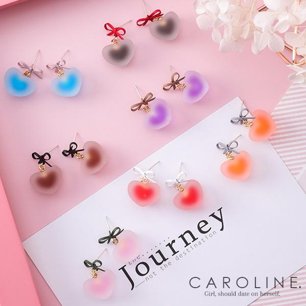 《Caroline》★韓國熱賣夾心糖果色耳環精緻蝴蝶結 甜美浪漫風格時尚流行耳環70040