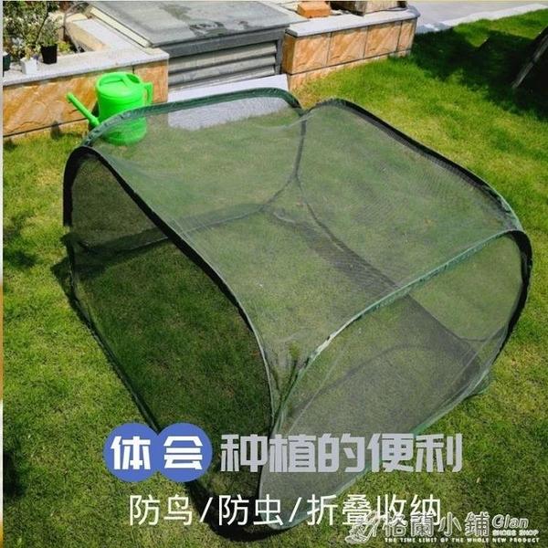 花園暖房鋼絲可摺疊花卉遮陽棚蔬菜多肉植物防鳥網罩家用小型花棚ATF 99購物節