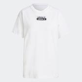 【陸壹捌折後$1580】Adidas R.Y.V. 女裝 短袖 T恤 純棉 寬鬆 白 H06773