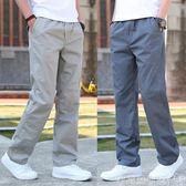 休閒褲春季寬鬆彈力工裝褲男士大碼戶外青年多口袋長褲運動褲子男  衣間迷你屋